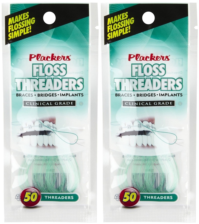 Plackers Floss Threaders (50 ct) 3 Pack